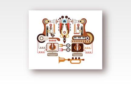 Jukebox vector graphic design