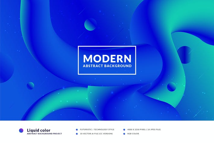 Thumbnail for Liquid color abstract background
