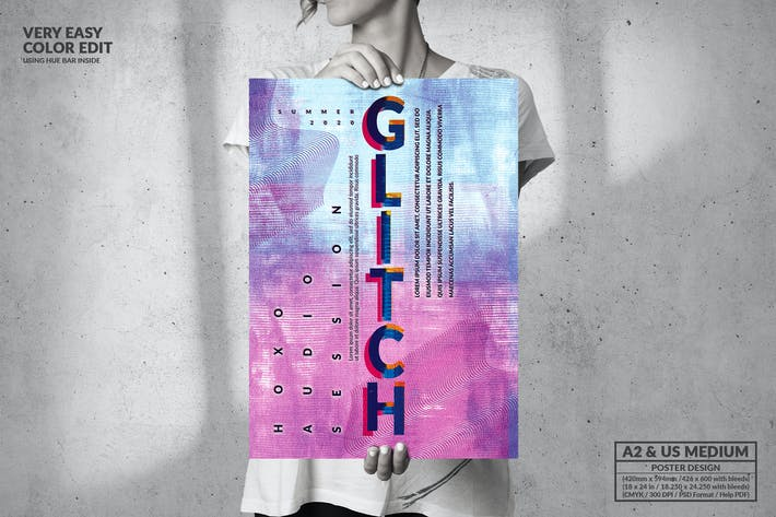 Thumbnail for Glitch Music - Big Poster Design