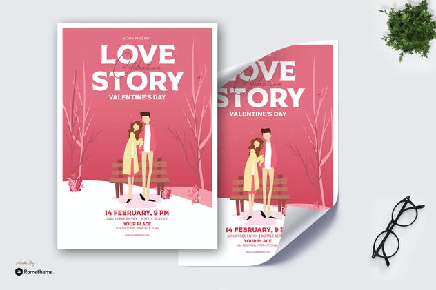 Love Story Valentine Celebrate - Poster AS