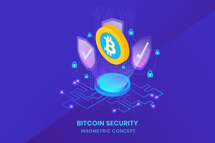 Thumbnail for Bitcoin Security - Insometric Vector