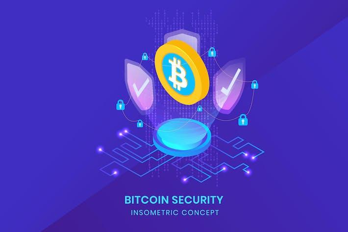 Thumbnail for Безопасность биткоина - инсометрический Вектор