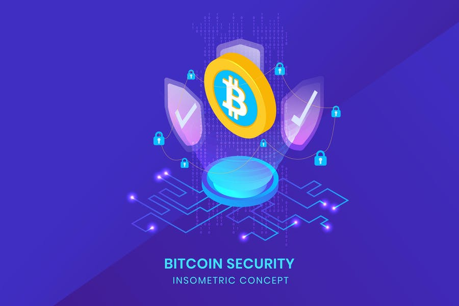 Bitcoin Security - Insometric Vector