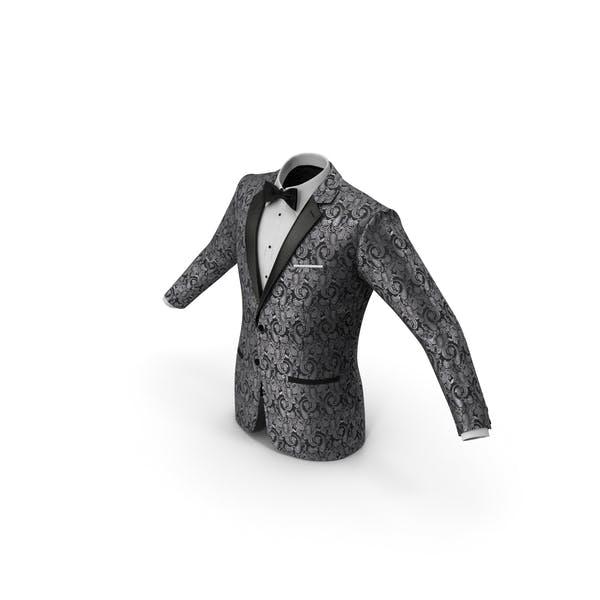 Patterned Tuxedo Jacket