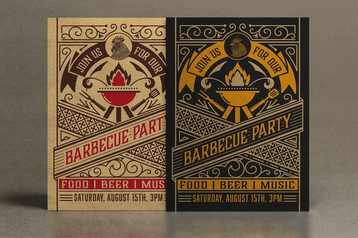 Thumbnail for Barbecue Party avec des ornements vintage