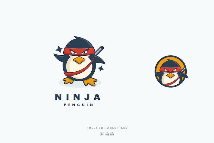 Thumbnail for Ninja Penguin Cartoon Color Logo