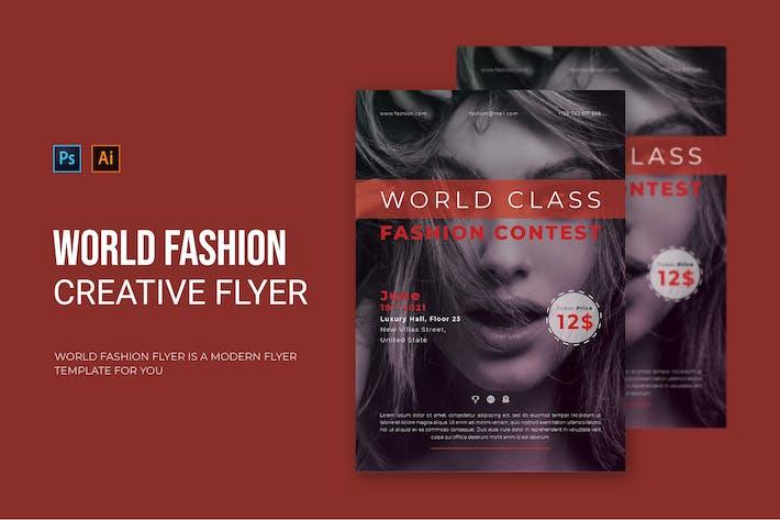 World Fashion - Flyer