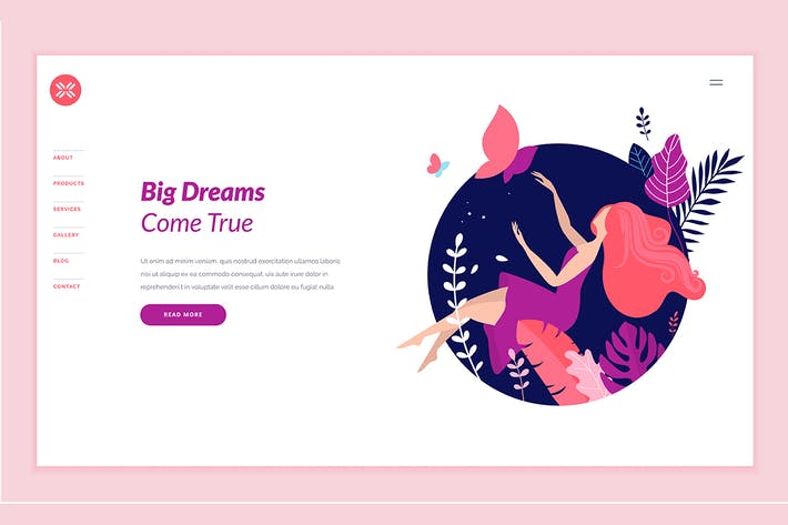 Cover Image For Beauty Web Page Design Template