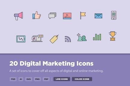 20 Digital Marketing Icons