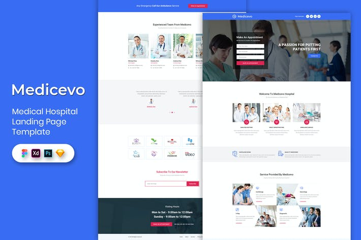 Thumbnail for Medical - Landing Page Template