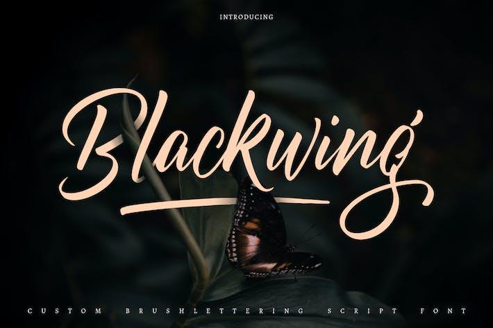Thumbnail for Blackwing | Police de script de lettrage au pinceau personnalisé