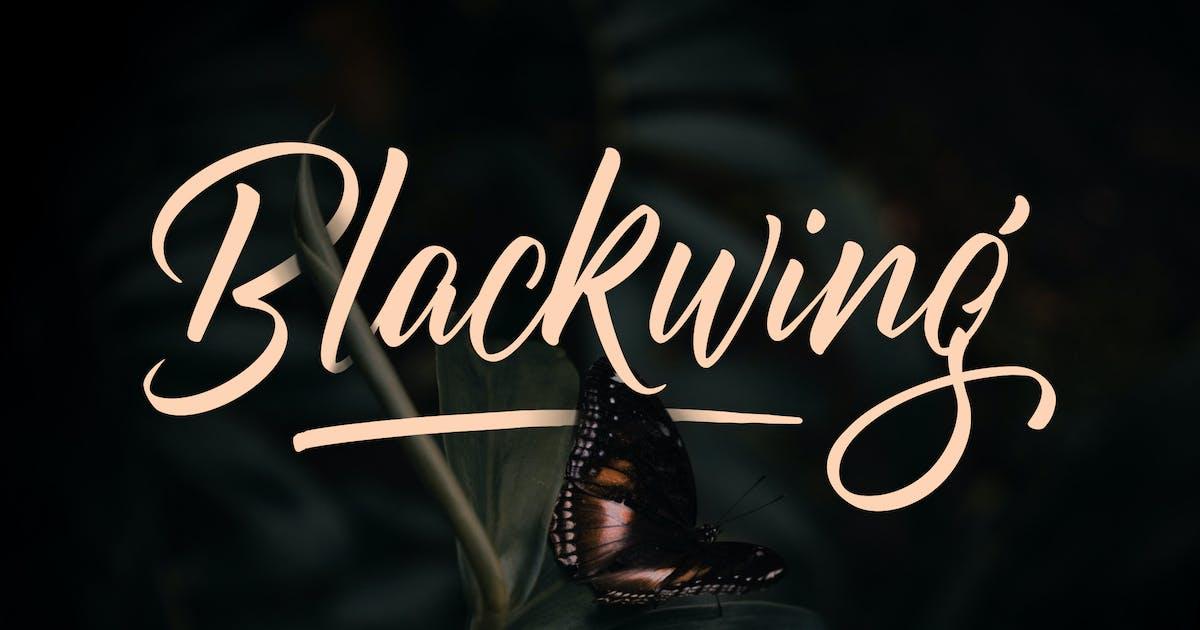 Download Blackwing   Custom Brush Lettering Script Font by Vunira
