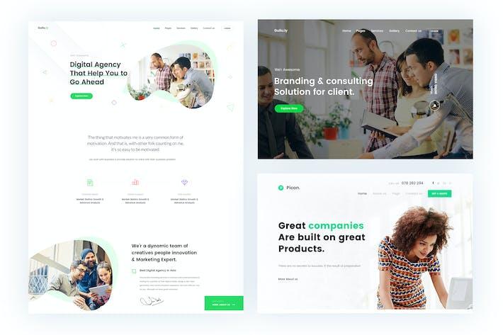 Thumbnail for Gullu- Agencia Digital y Plantilla HTML Multifunción
