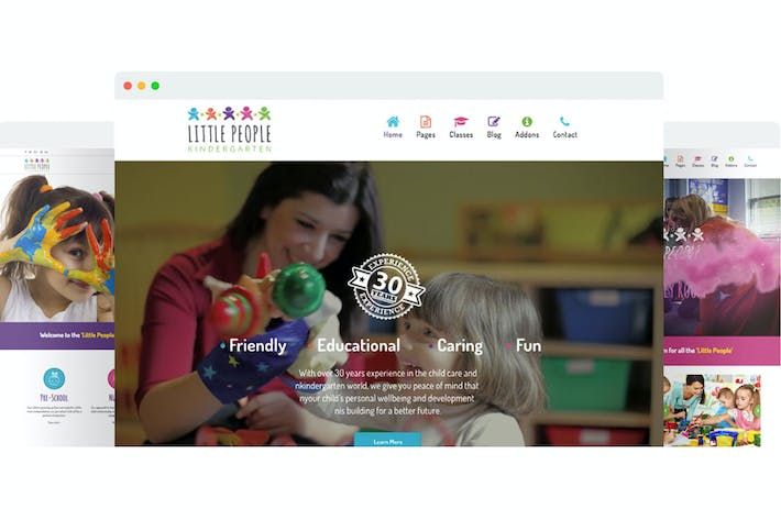 Thumbnail for Little People | Kindergarten Joomla Template