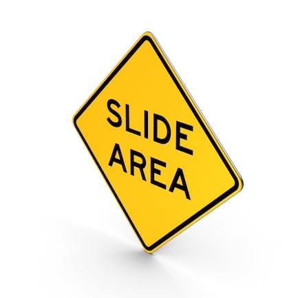 Slide Area California Road Sign