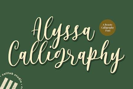 Caligrafía de Alyssa