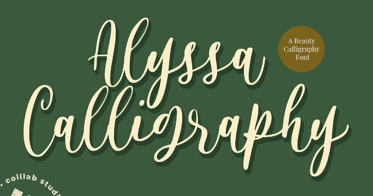 Download Alyssa Calligraphy by Colllabstudio