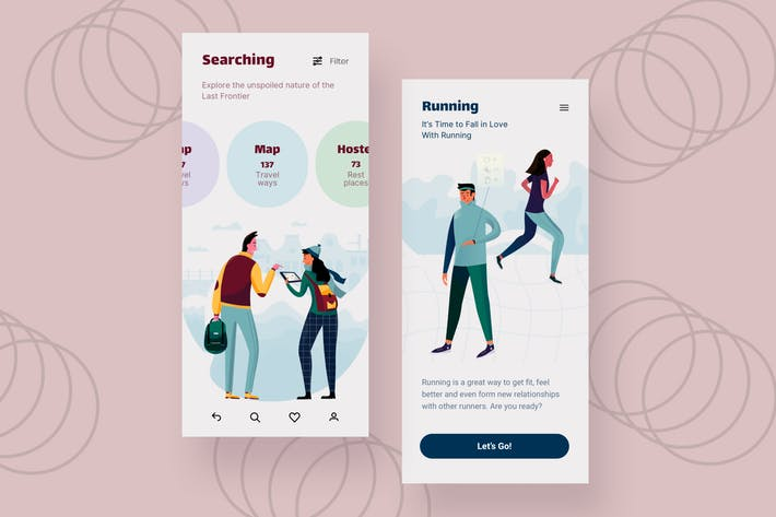 Thumbnail for Search Mobile Interface Illustrations