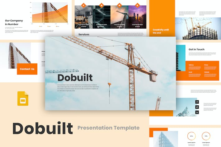 Cover Image For Dobuilt - Construction Google Slides Template