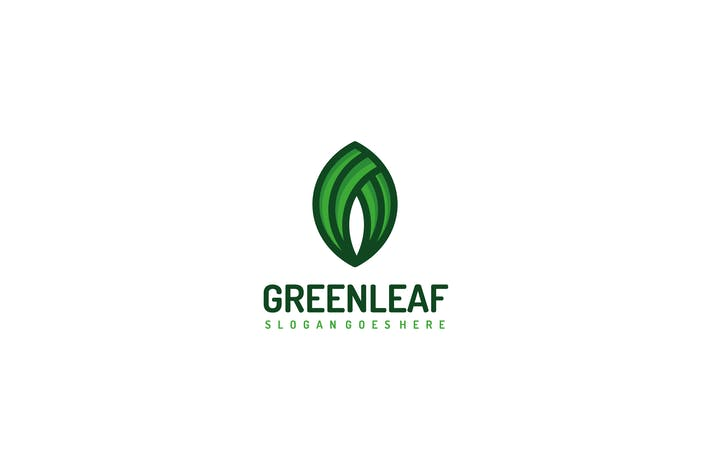 Thumbnail for Green Natural Leaf Logo