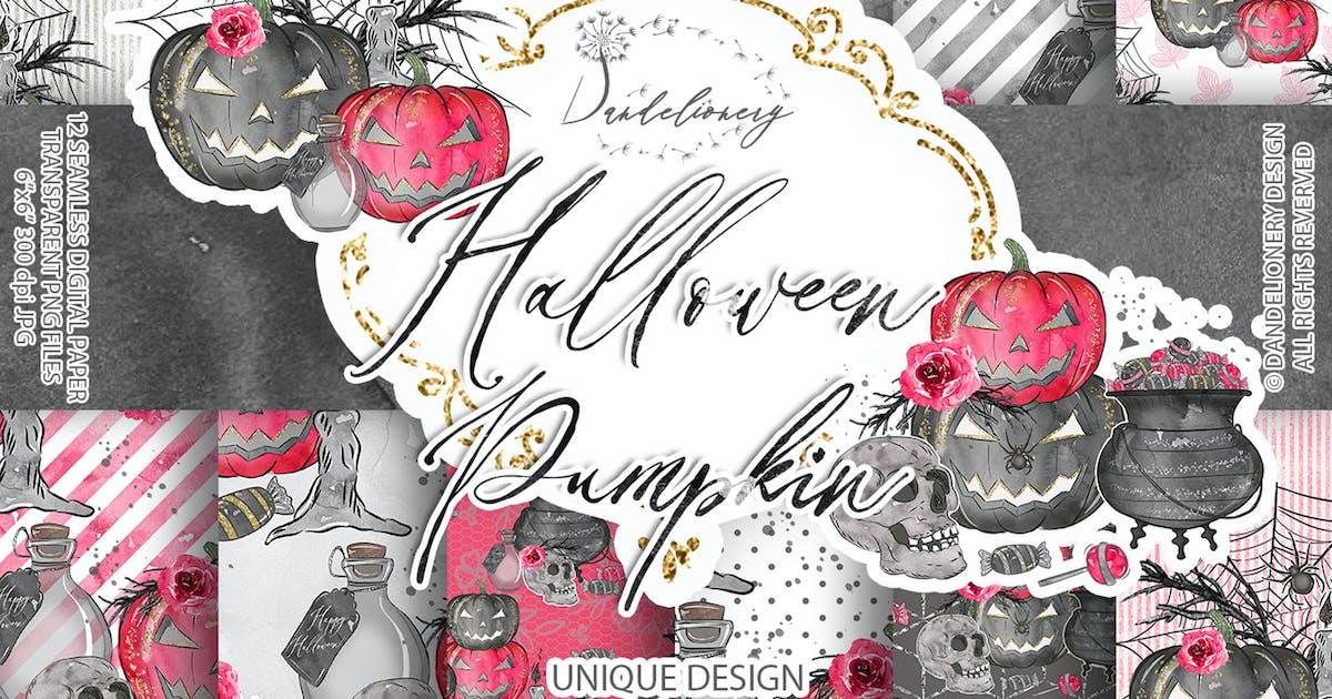Download Cute Halloween digital paper pack by designloverstudio