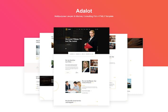 Thumbnail for Adalot | Lawyer Consulting Firm HTML5 Template