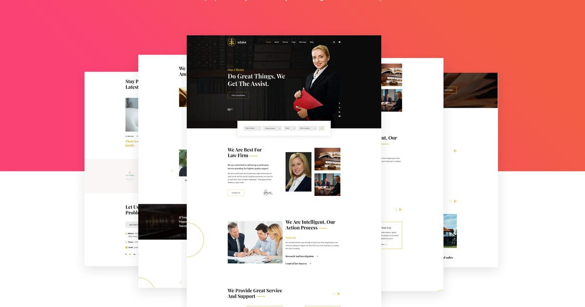 Download Adalot | Lawyer Consulting Firm HTML5 Template by themelooks
