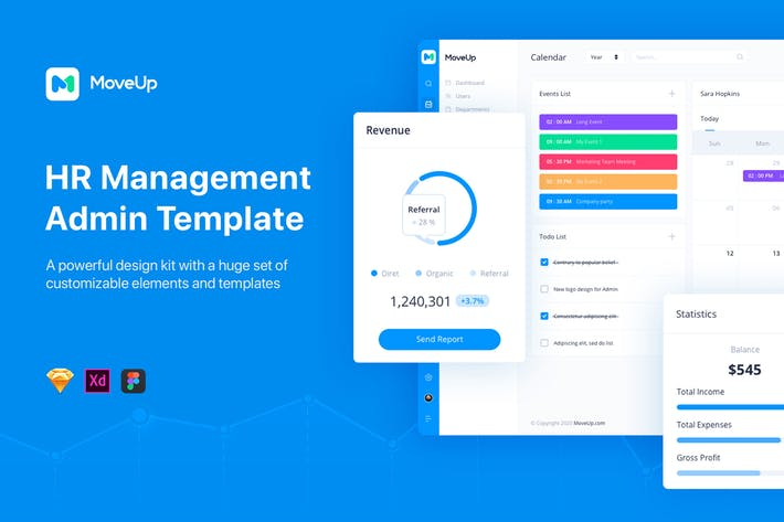 Thumbnail for MoveUp - HR Management Admin Template