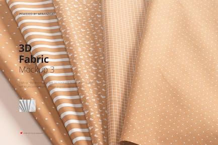 Folded Fabric Mockup 03