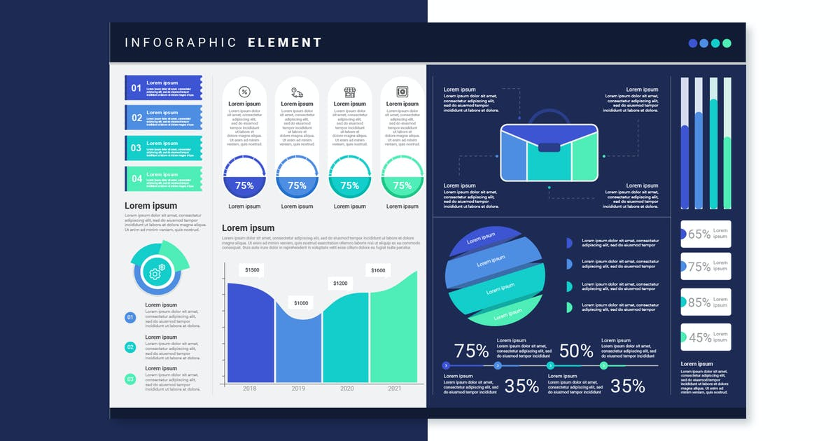 Download Infographic Template & Elements for Business V.17 by tokopress