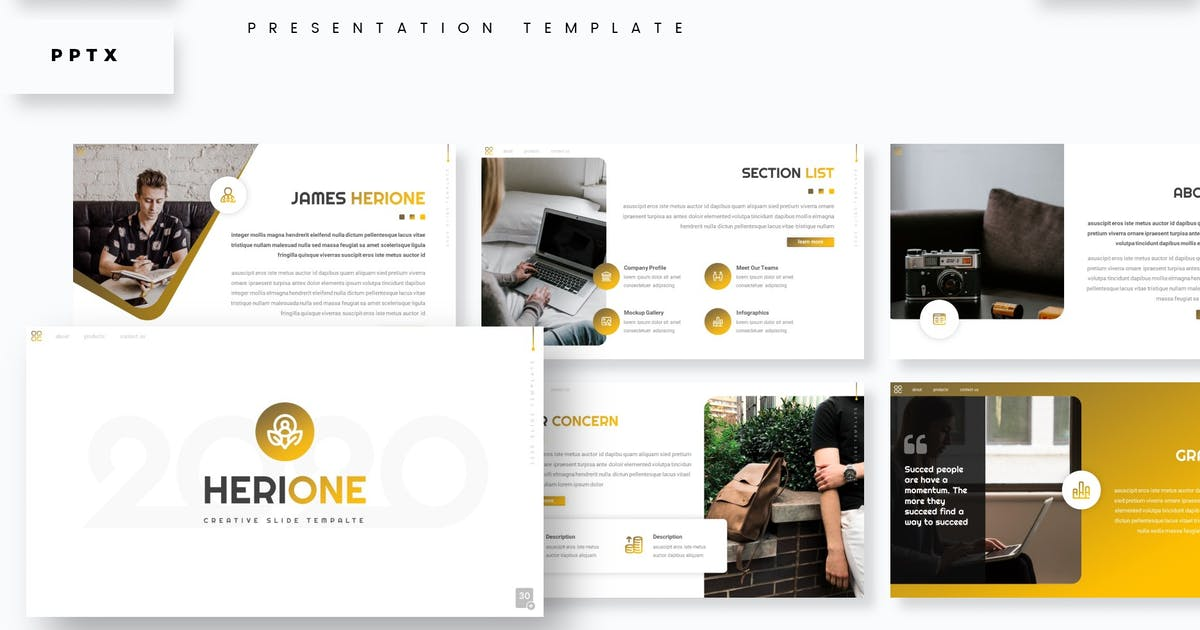 Download Herione - Presentation Template by aqrstudio