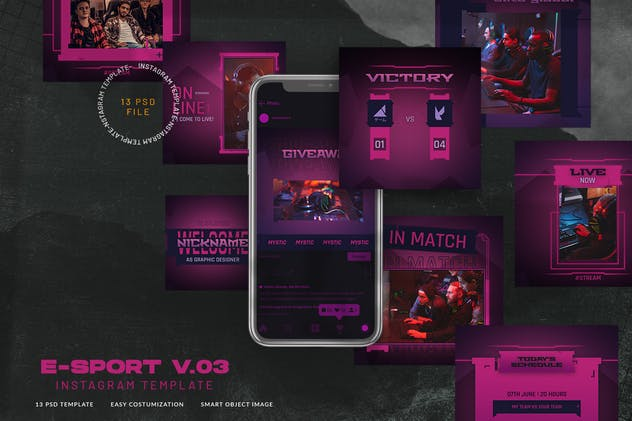 eSport & Gaming Instagram Template V.03