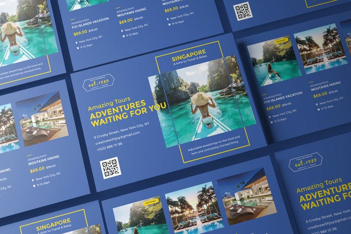 Thumbnail for Travel Agency A5 Business Flyer