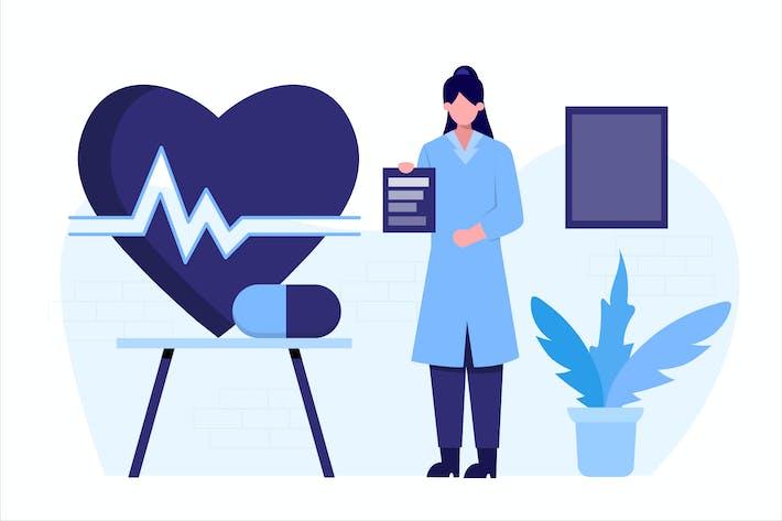 Thumbnail for Pharmacy Education Flat Illustration