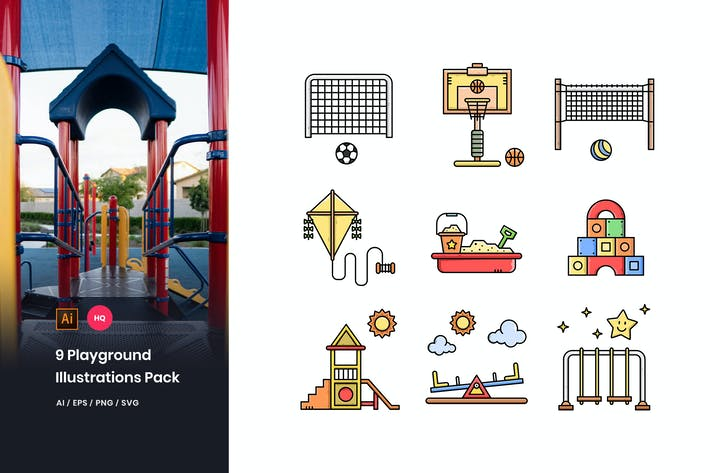 Thumbnail for Playground Illustrations Pack