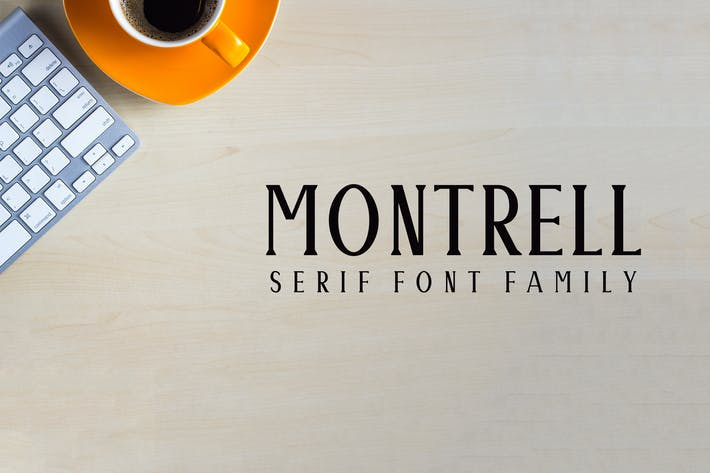Thumbnail for Montrell Serif Font Family Pack