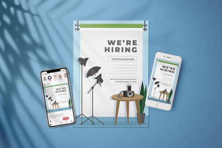 Thumbnail for Photographer - Open Recruitment Flyer Kit