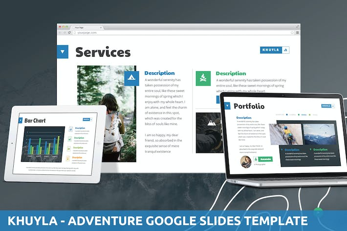 Thumbnail for Khuyla - Adventure Google Slides Template