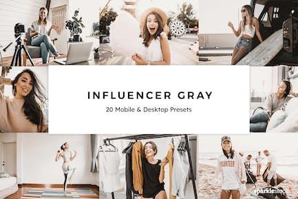 20 Influencer Gray Lightroom Presets & LUTs