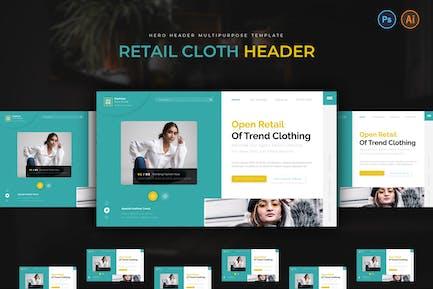 Retail Cloth Hero Header