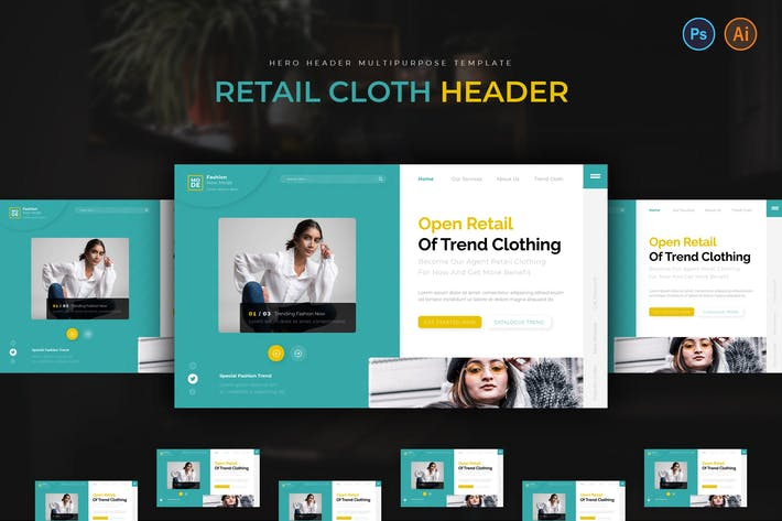 Thumbnail for Retail Cloth Hero Header