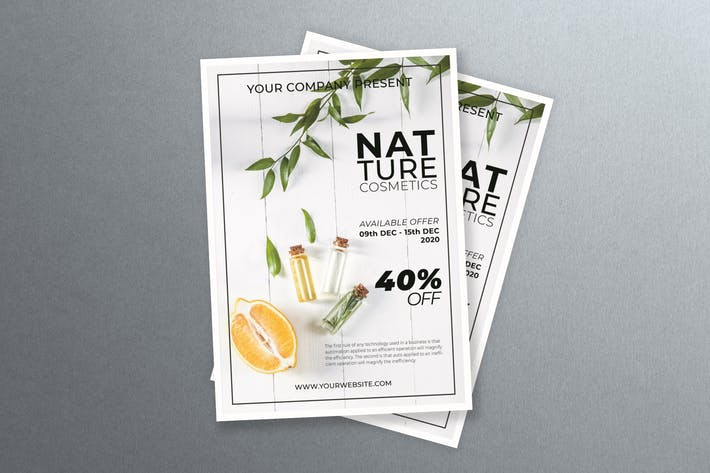Thumbnail for Natural Cosmetic Flyer