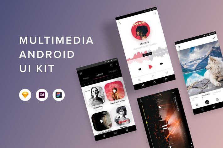 Thumbnail for Multimedia Android UI Kit