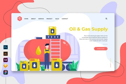 Oil & Gas Supply - Web & Mobile Landing Page