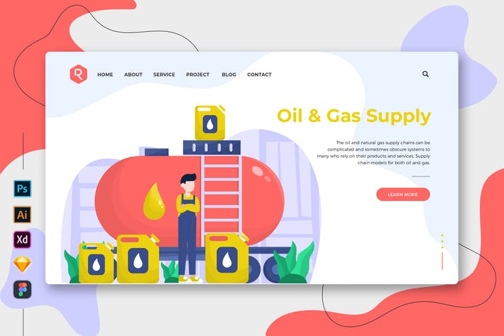 Thumbnail for Oil & Gas Supply - Web & Mobile Landing Page