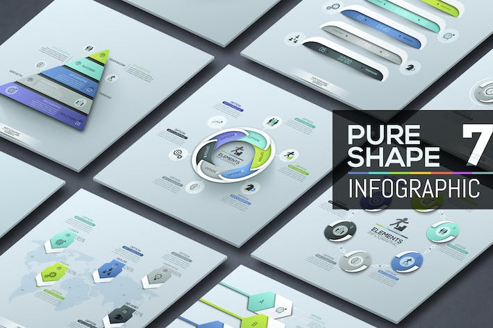 Thumbnail for Pure Shape Infographic. Part 7