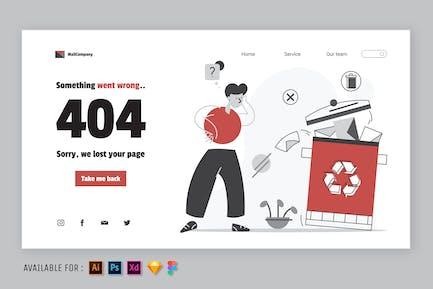 404 Error Page - Web Illustration
