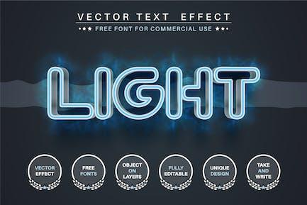Blue light - editable text effect, font style