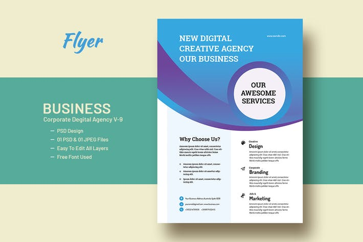 Business And Corporate Digital Agency Flyer V-9