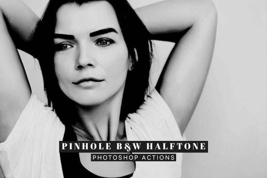 Pinhole Halftone Photoshop Actions
